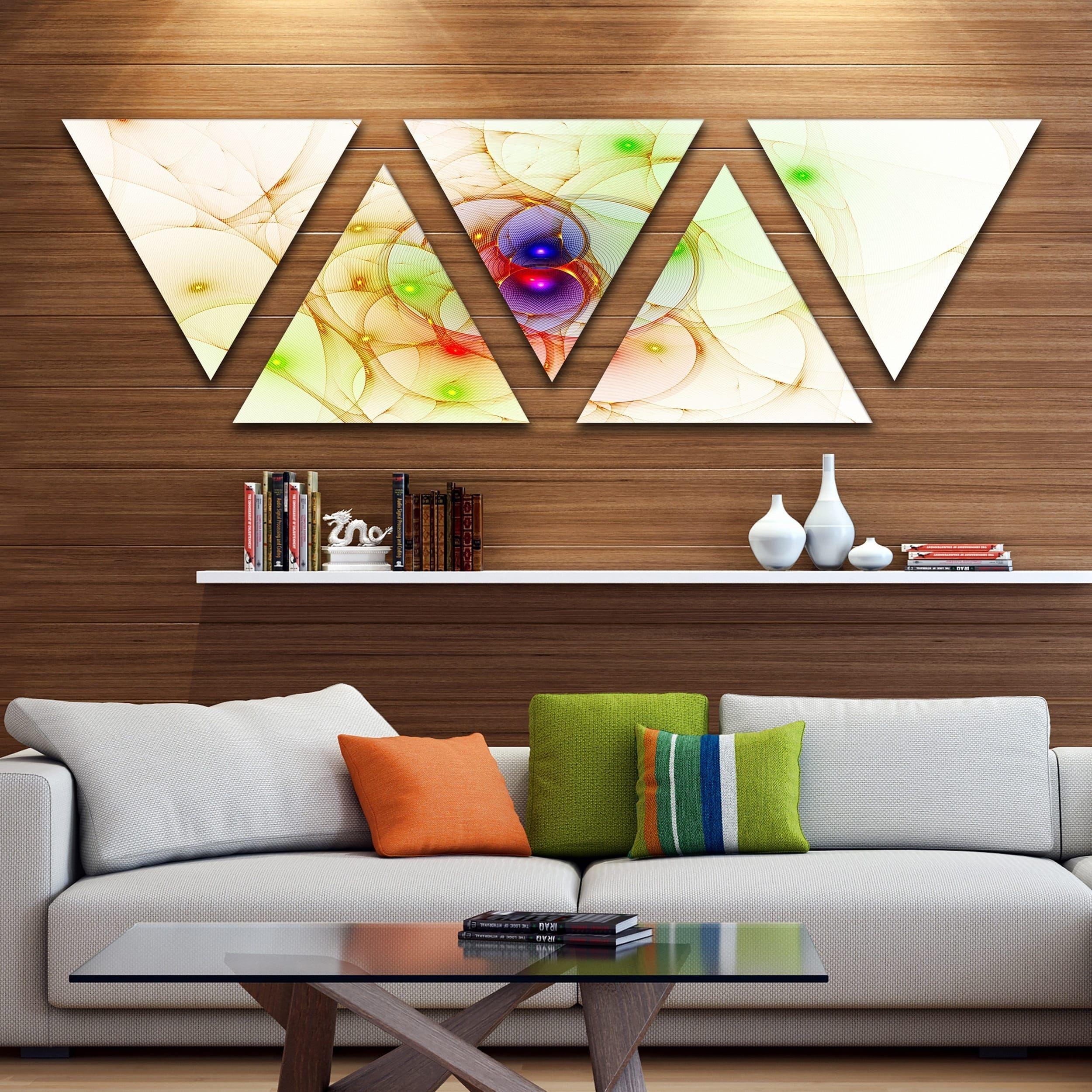 Designart uspherical colorful fractal designu contemporary wall art