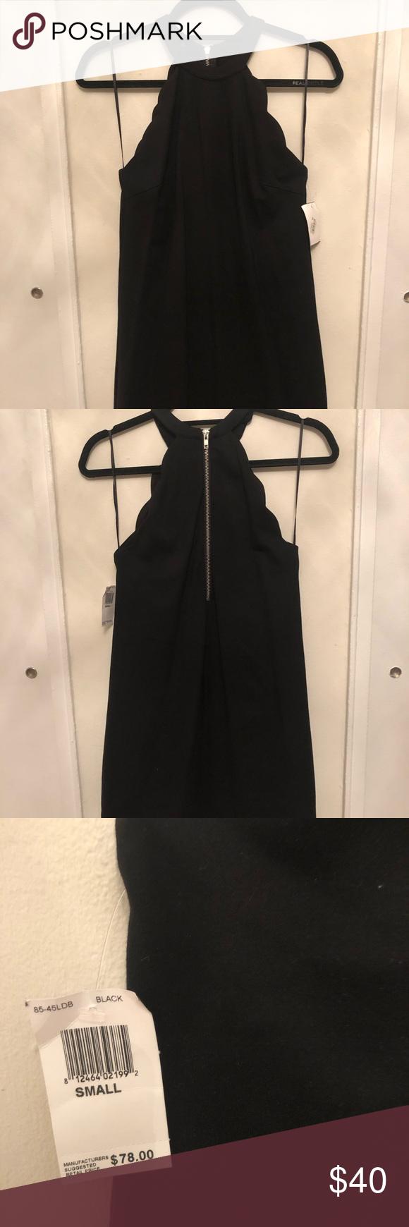 Scalloped Little Black Dress Zipper Back Stretch Material Olivaceous Dresses Mini Little Black Dress Black Dress Olivaceous Dress [ 1740 x 580 Pixel ]