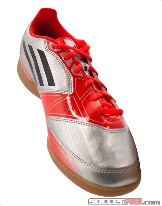 adidas F5 Indoor Soccer Shoes - Metallic Silver with Black... 40.49 ... b5542ee253313
