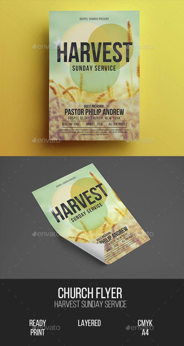 Church Gospel Flyer Photoshop Psd Template Flyer Template
