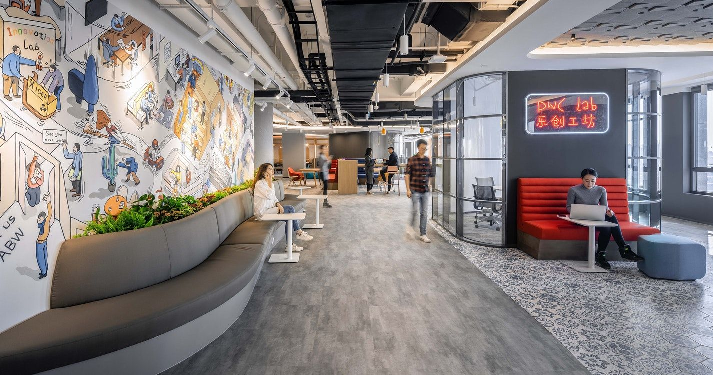 Explore How The M Moser Designed Pwc Playlab Sparks Fun Creativity And An Immersive Experience In 2020 Immersive Experience Design Office Design