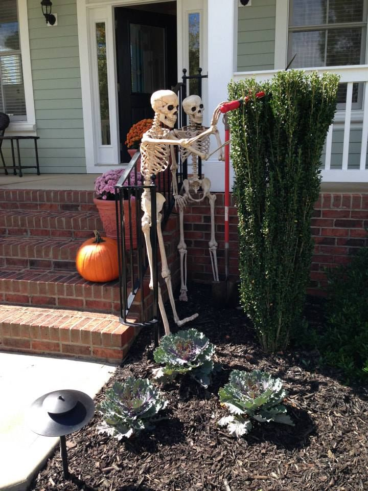 Halloween Front Porch Decorations Getting in a little gardening