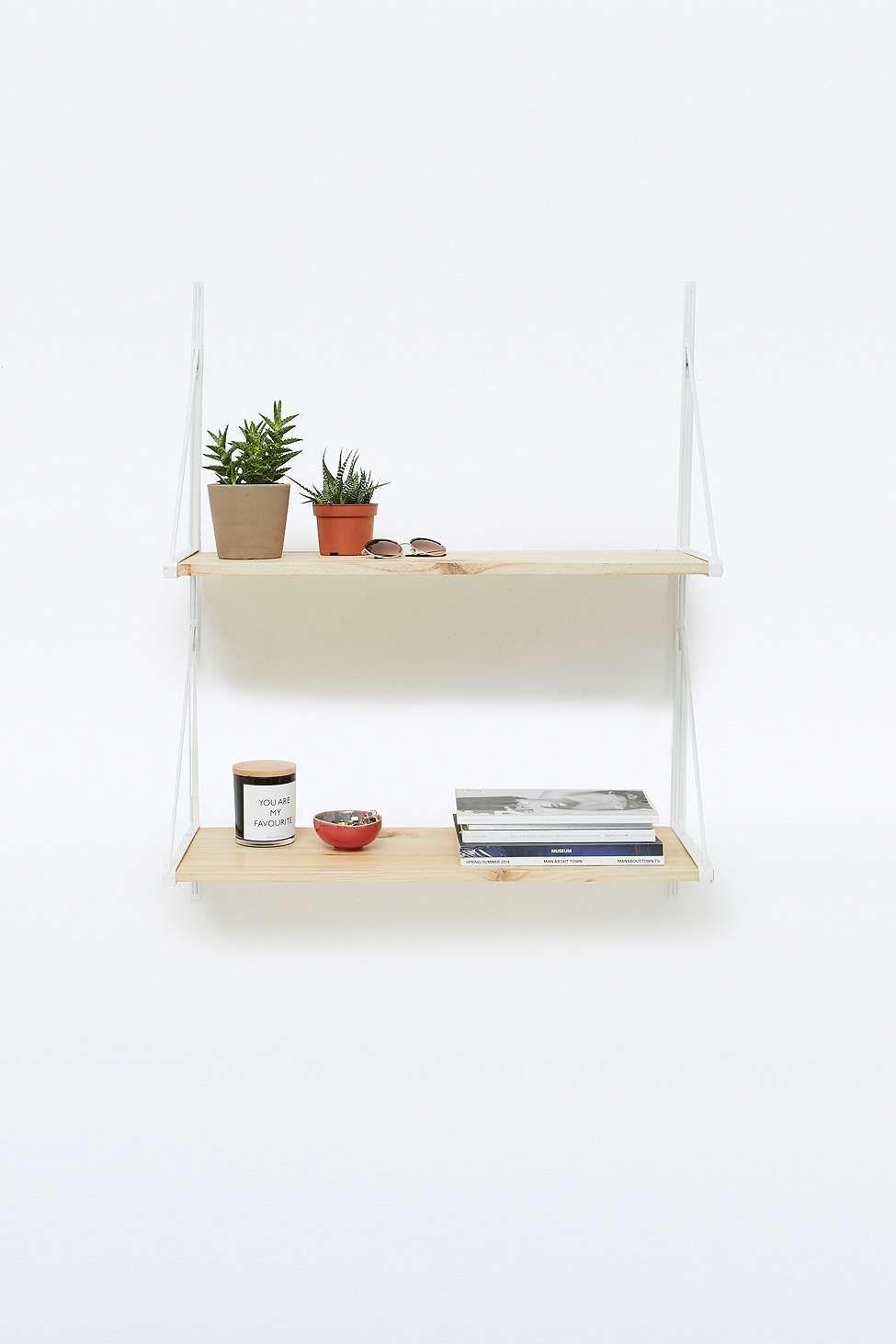 white shelf etagere blanche coin cuisine inspiration deco idees pour la maison