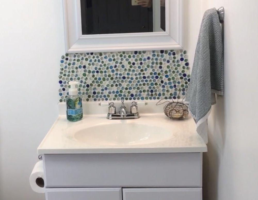 Dollar Store Backsplash Beautiful Bathrooms Backsplash Faux