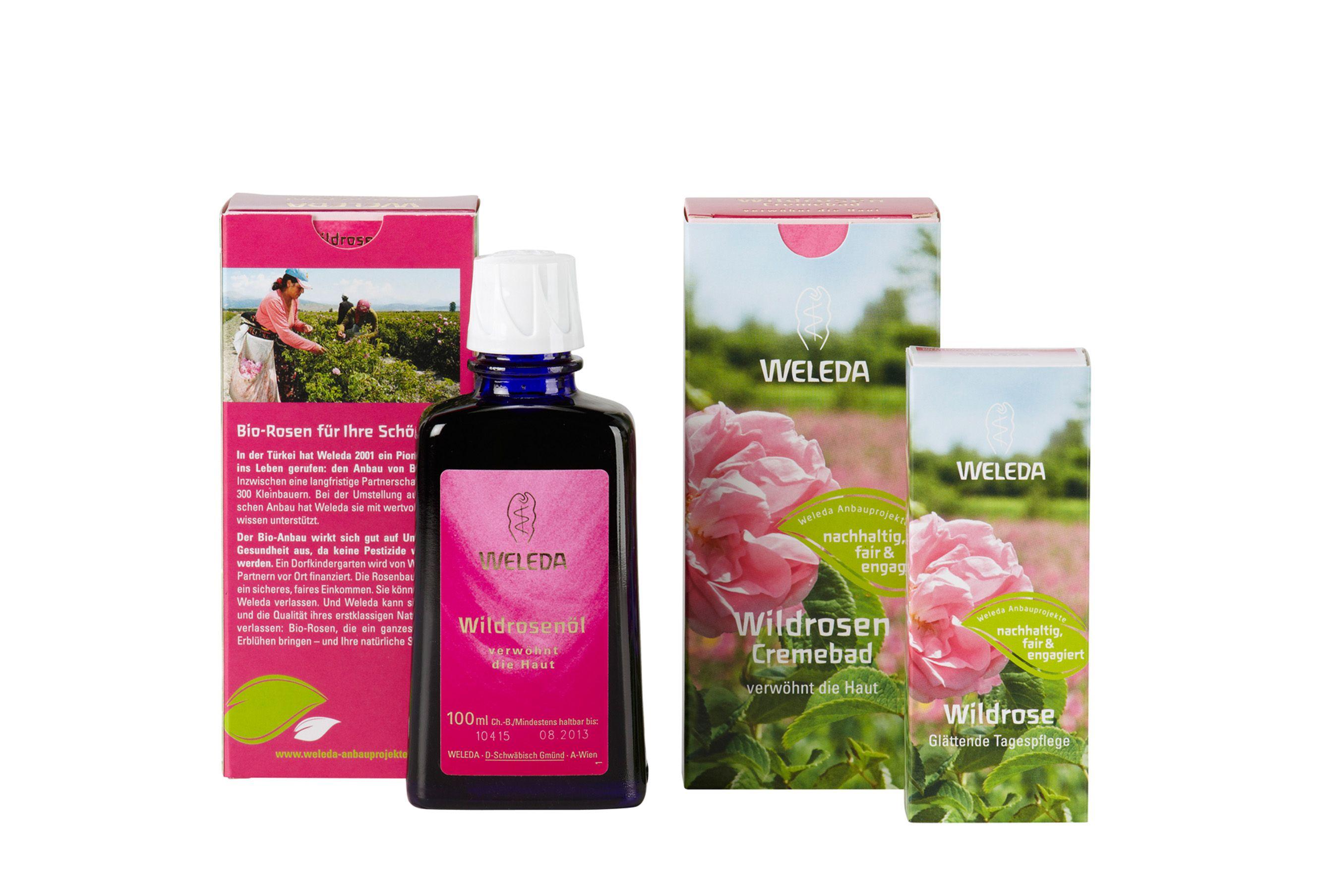 Der feine Duft der Damaszener Rose verleiht den Produkten der Weleda Wildrosenserie ihre einzigartige Note und prägt ihren Charakter.