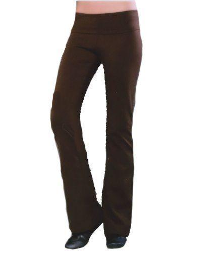 45c3f39844791 Cotton Spandex Jersey Low Rise Fold Over Yoga Pant BLUEprint. $65.00 ...