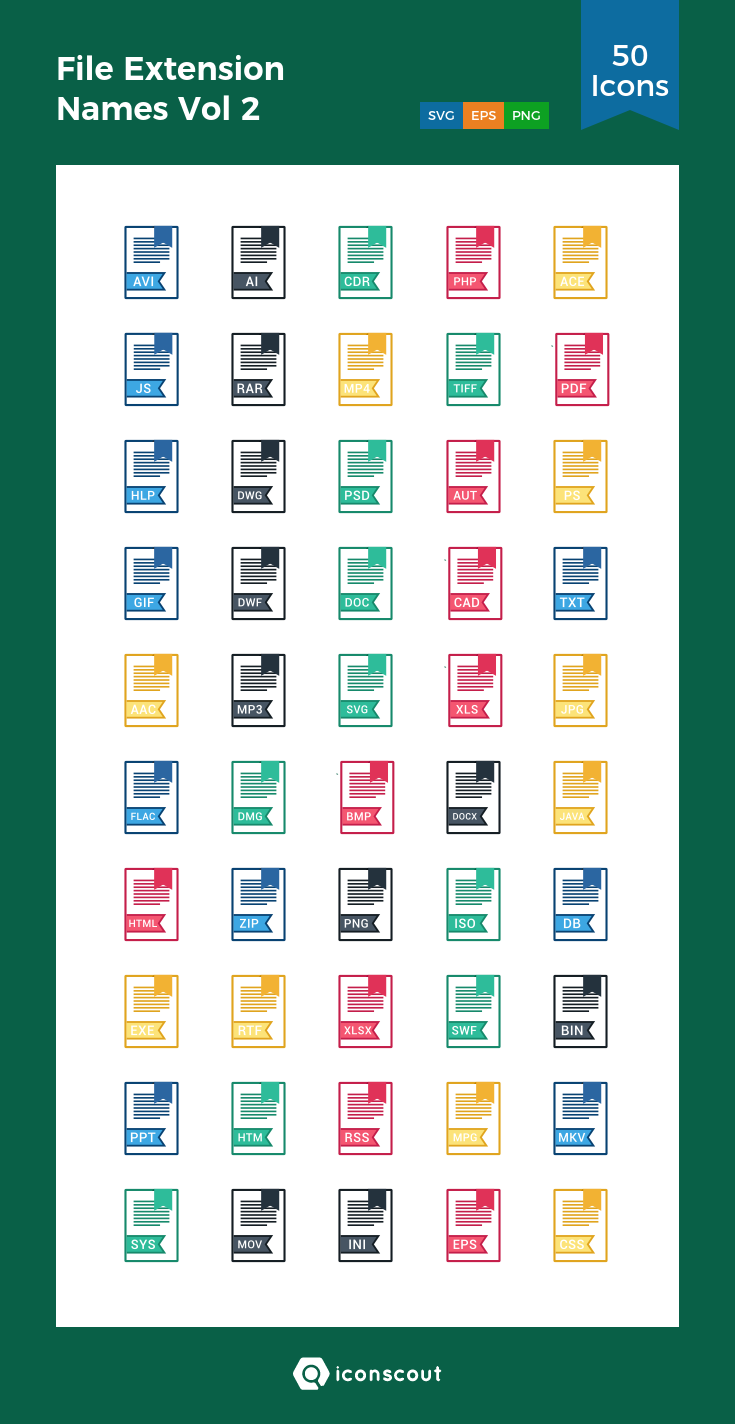 Download File Extension Names Vol 2 Icon pack Available
