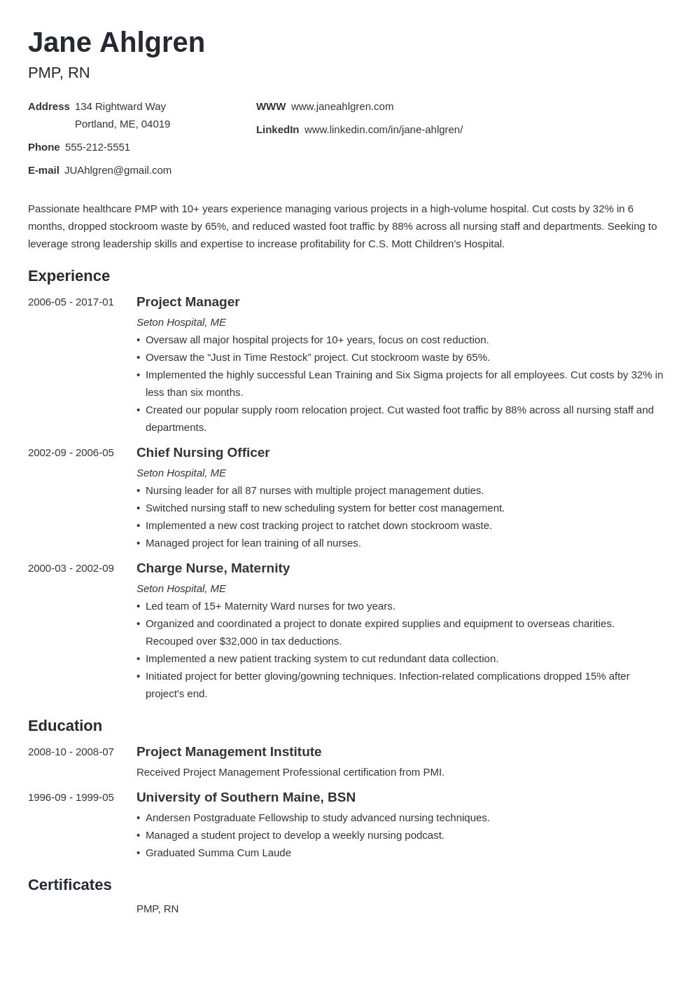 Plain Text Resume Example Template Minimo Resume Examples Job Resume Examples Resume Layout