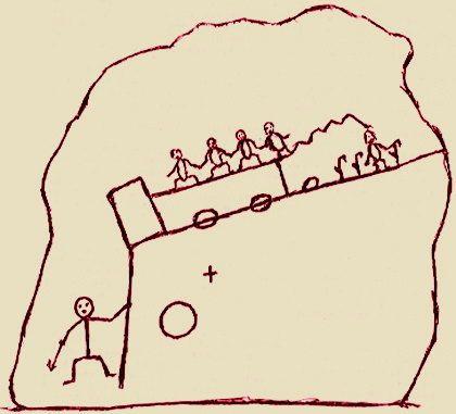 ホピ 予言の岩絵 絵の中の三つの円のうち二つは 今世紀世界が体験