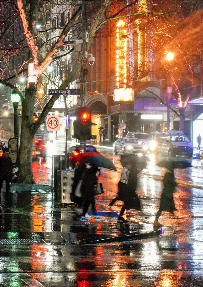 Regent Rain 2 Collins Street Melbourne C G C Campbell Melbourne Weather Melbourne Places In Melbourne