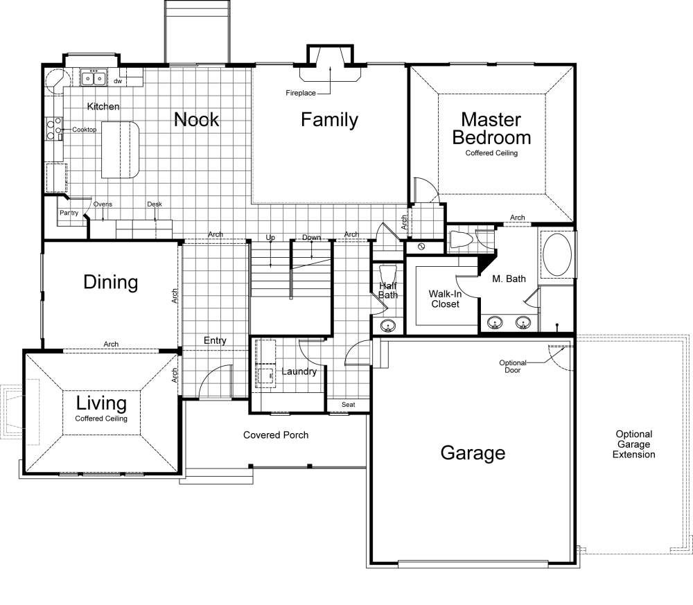 hampton ivory homes floor plan main level ivory homes floor