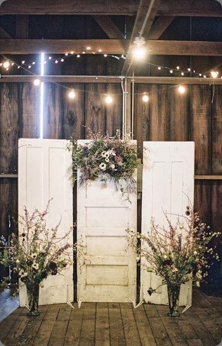 Rustic door alters for wedding ceremony & door alters | vintage door altar area | When I get married I want ...