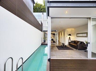 small narrow swimming pool - Google Search | small backyard ...