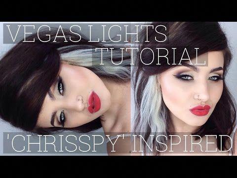 vegas lights makeup geek 'chrisspy' inspired tutorial'