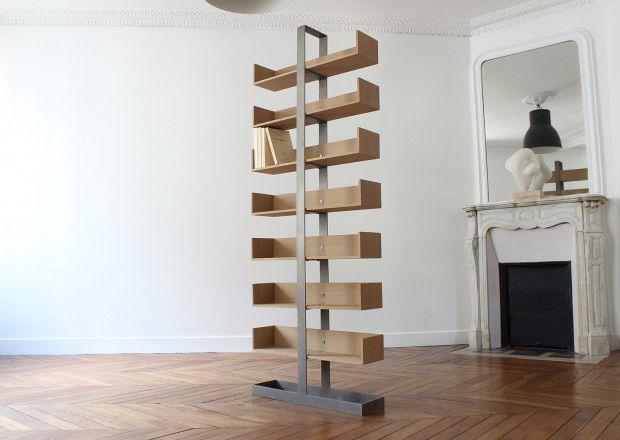 Contemporary Shelf / Wooden / Steel / Living Room SÉVERIN Alex De Rouvray  Design