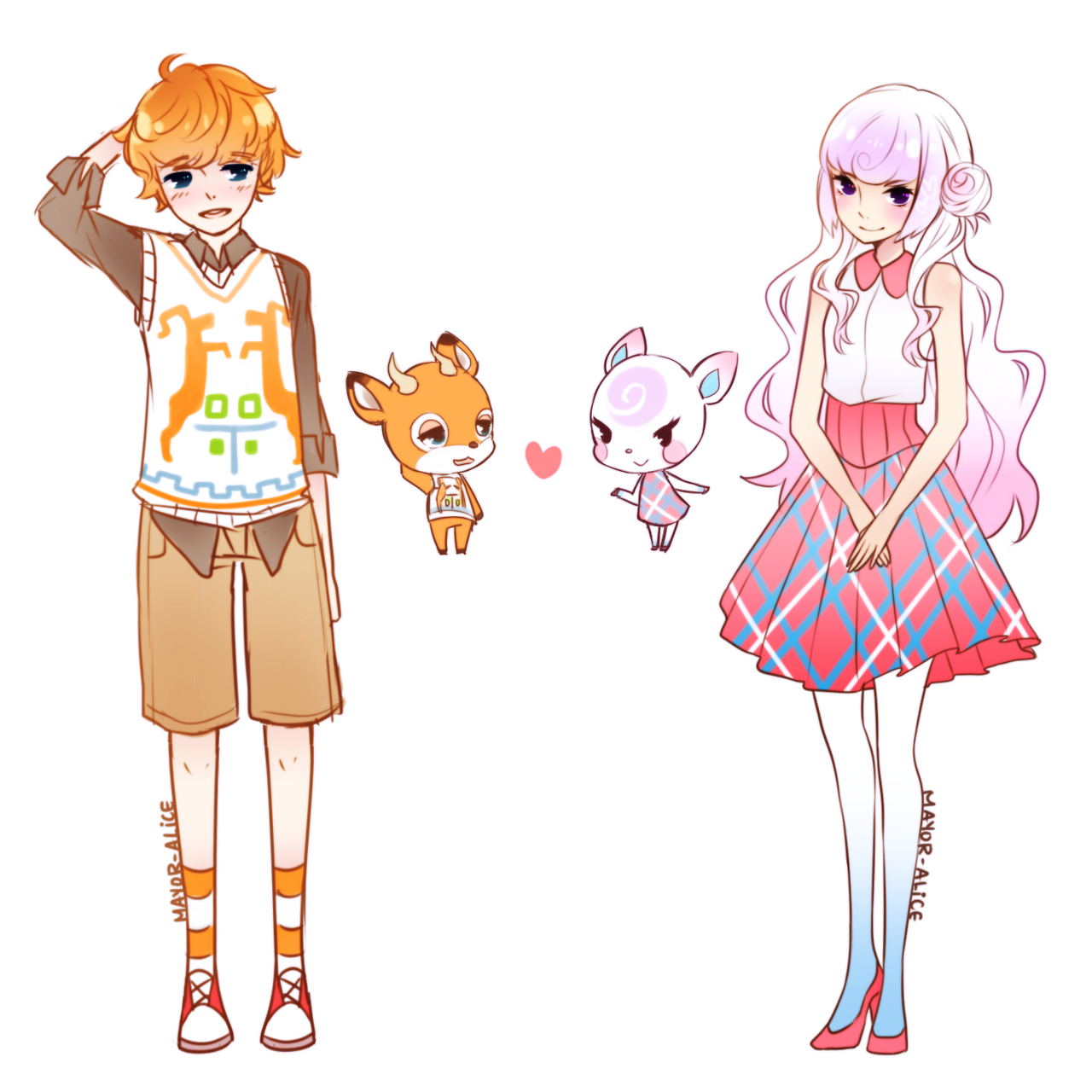 Beau And Diana From Animal Crossing Woah How Cool Anime Human