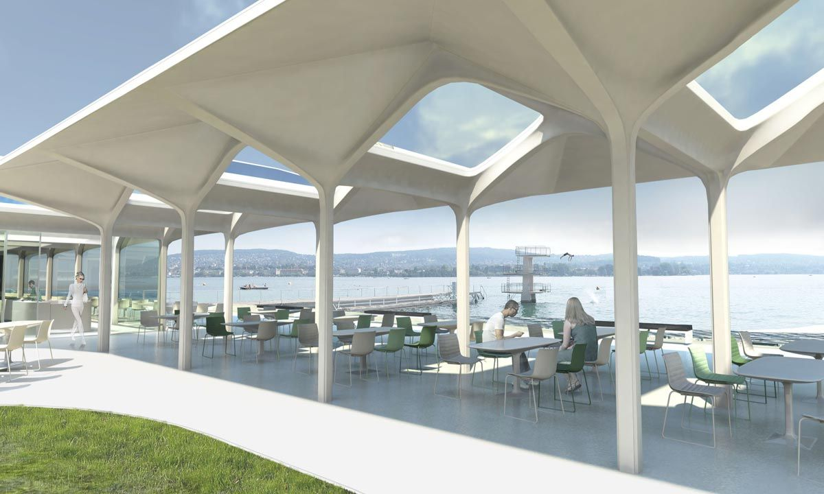 Beach restaurant design google search food court for Beach architecture design