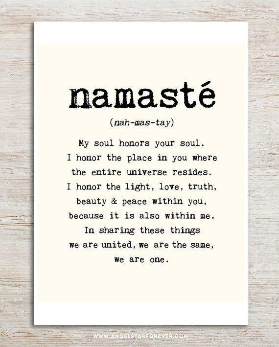 Large Namaste Poster 16x20 Inches On A2 Inspiring By Mercimerci Yoga Zitate The Words Zitate