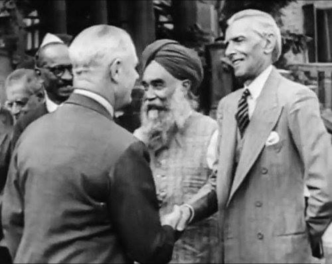Jinnah With Loard Wavell And Tara Singh Pakistan Zindabad Historical Historical Figures