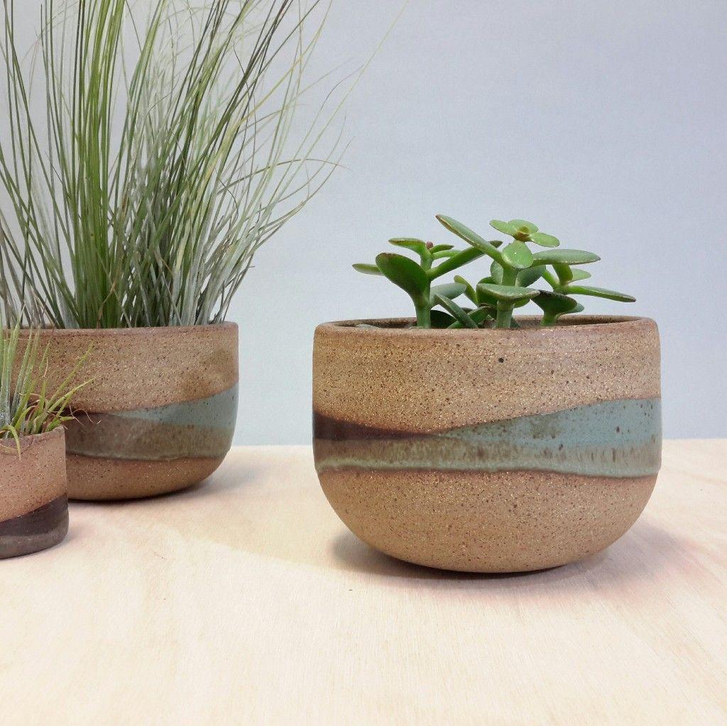 Minimalist earthy landscape plant pot for indoor plants