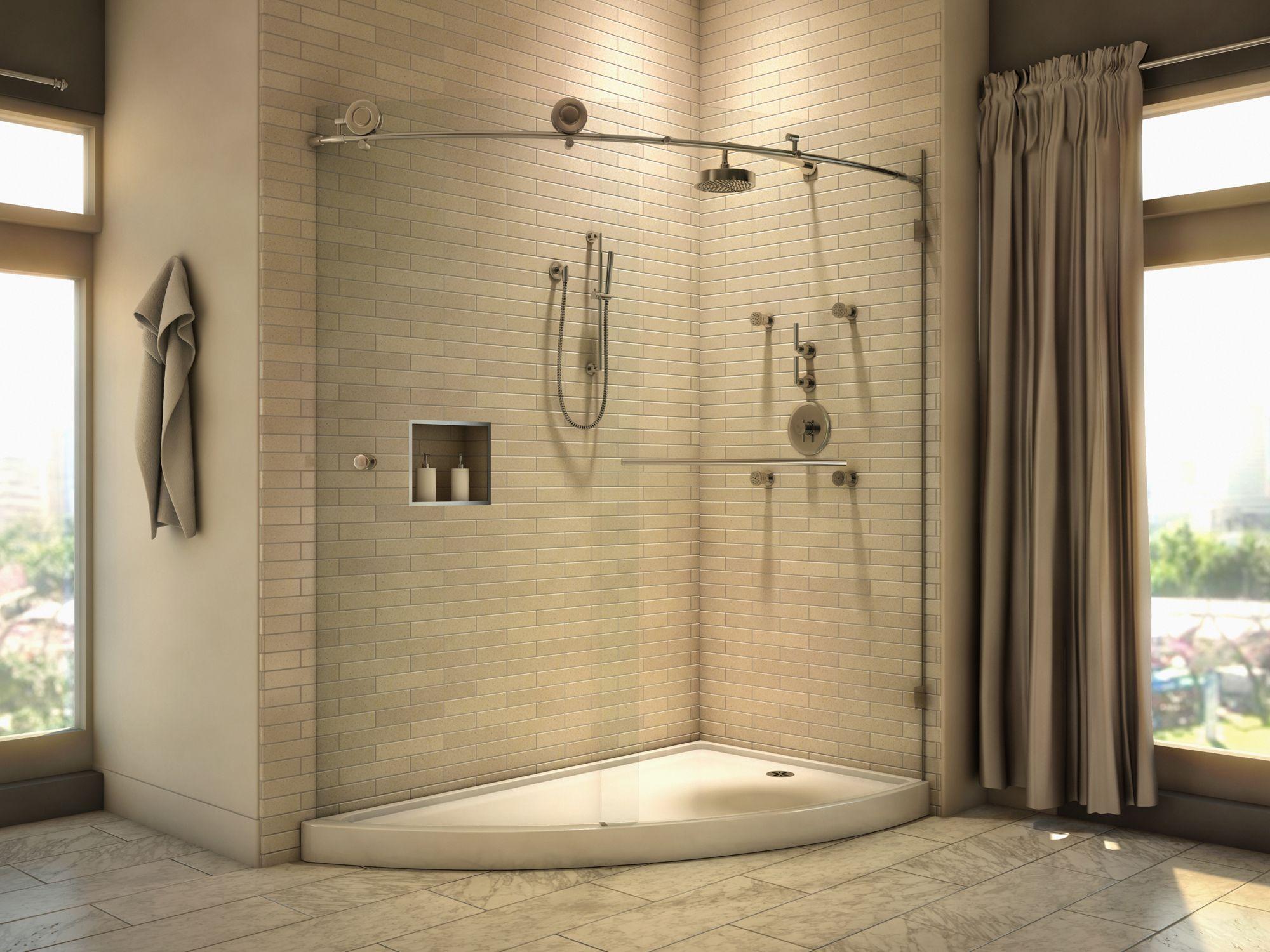 porte de douche haut de gamme sans cadre avec syst me de coulissage sans effort en acier. Black Bedroom Furniture Sets. Home Design Ideas