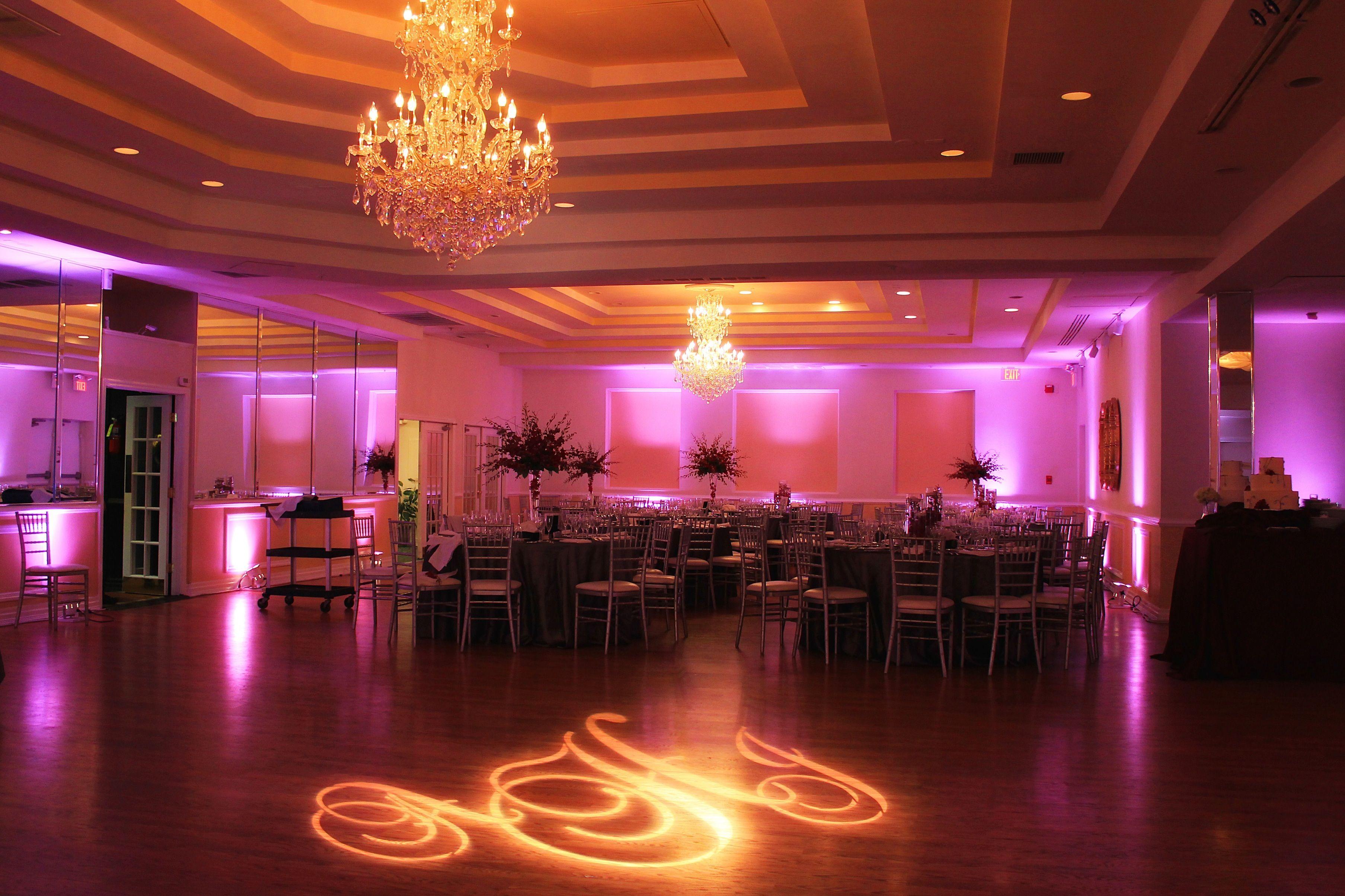 Beautiful Lighted Monogram At The Villa Wedding Reception Locations Venues Event Planning