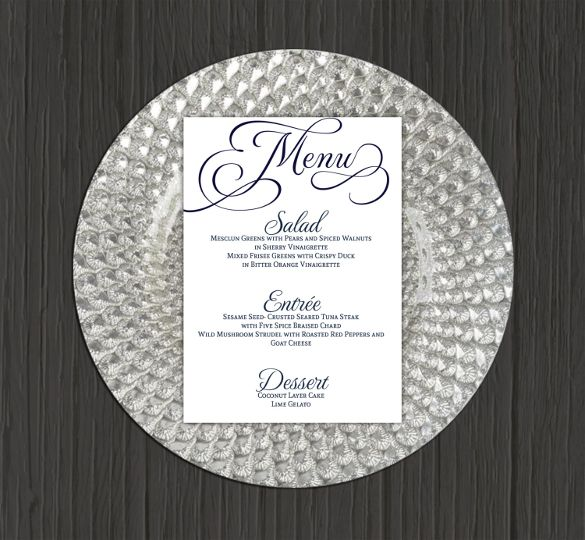 wedding menu template 41 free word pdf psd eps format download