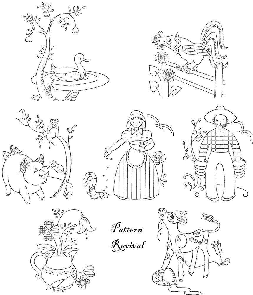 Tea towel embroidery pennsylvania dutch days of the week pattern tea towel embroidery pennsylvania dutch days of the week pattern pdf vintage bankloansurffo Images