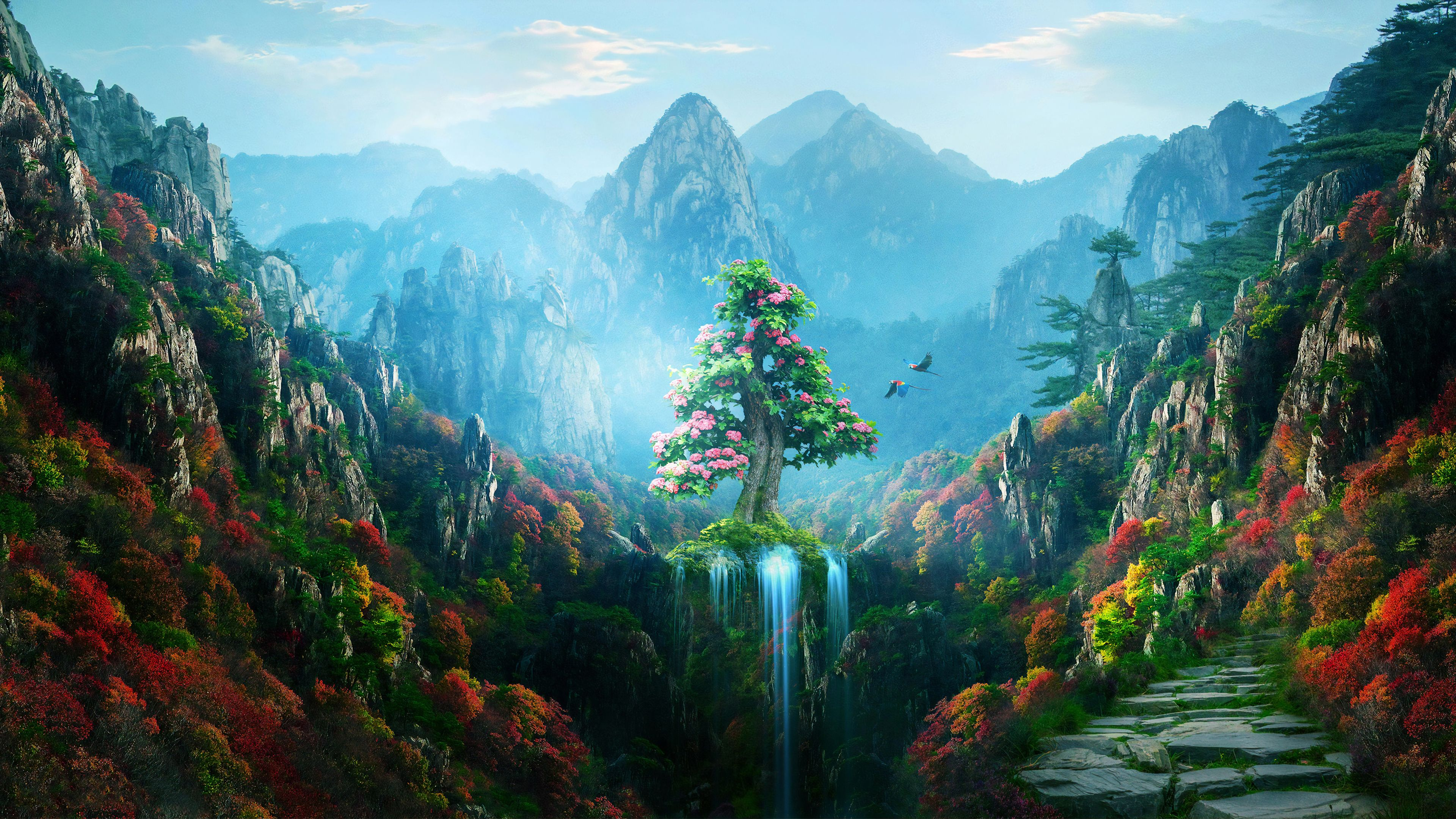 Spring Autumn Colorful Nature Magical Forest 4k Spring Wallpapers Parrot Wallpapers Nature Wallpapers M In 2020 Nature Wallpaper Colorful Wallpaper Spring Wallpaper
