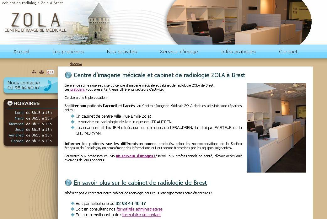 Cim Zola Cabinet De Radiologie A Brest Radiologie Imagerie Medicale Zola