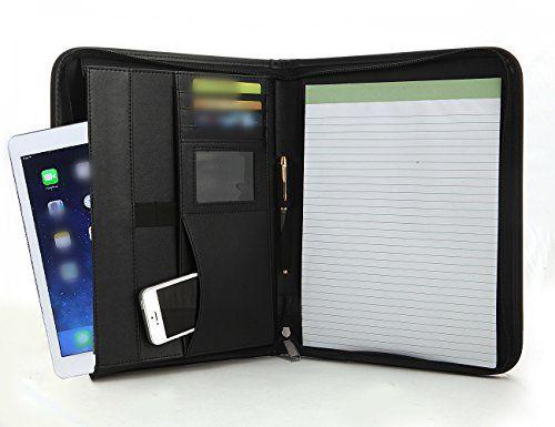 Executive Zippered Portfolio Binder, RFID Blocking Sleeve - professional resume folder