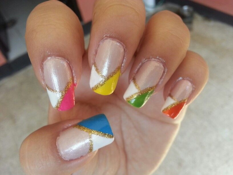 french Color nails, my attempt ☆ | Nails ♥ | Pinterest | French ...