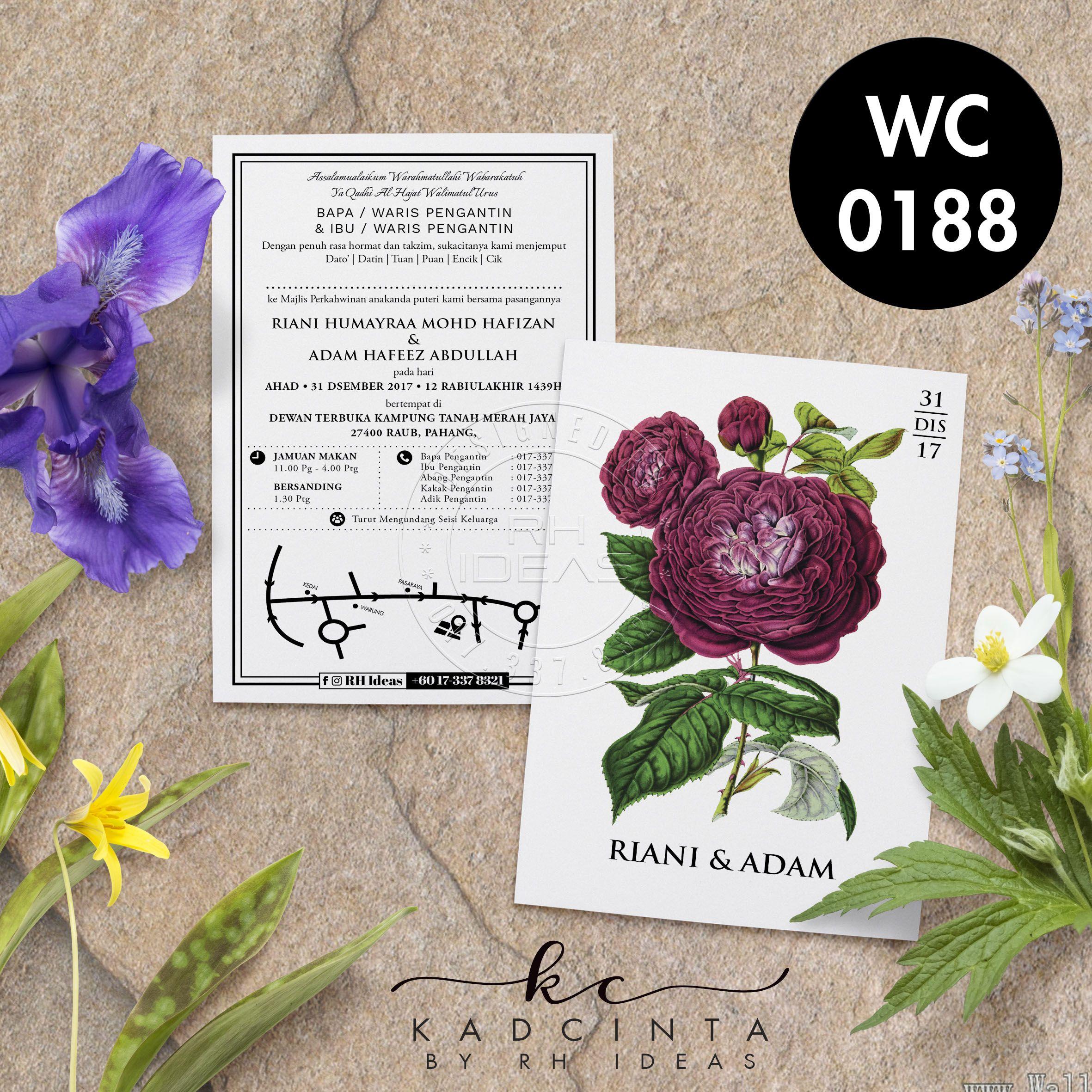 Kad Kahwin Wc0188 White Version Wedding Cards Kad Kahwin Cards