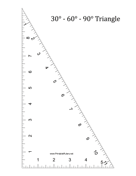 This Printable Triangle Has Angles Of 30 60 And 90 Degrees At