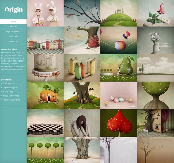 Origin WordPress Theme: Elegant Themes – A Fullscreen Responsive ...