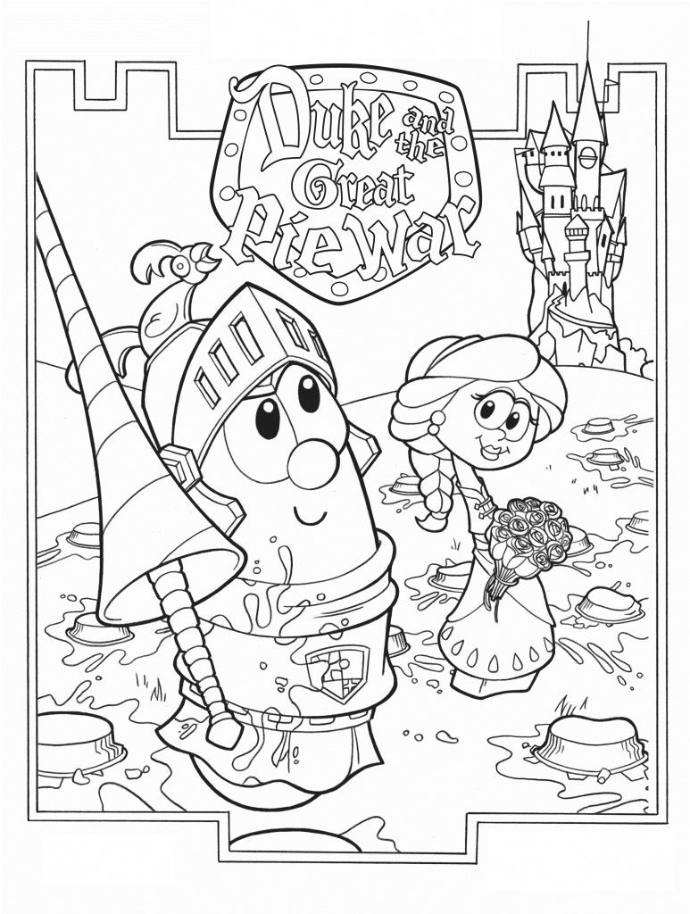 Printable Veggie Tales Coloring Pages For Kids