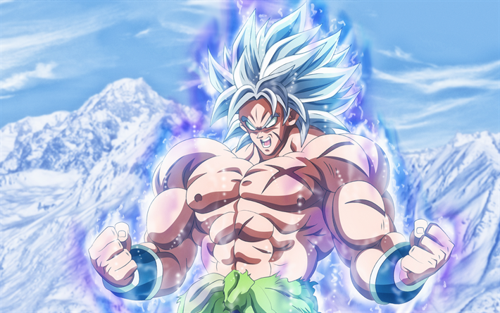 Download wallpapers Broly, 4k, mountains, Dragon Ball, DBS