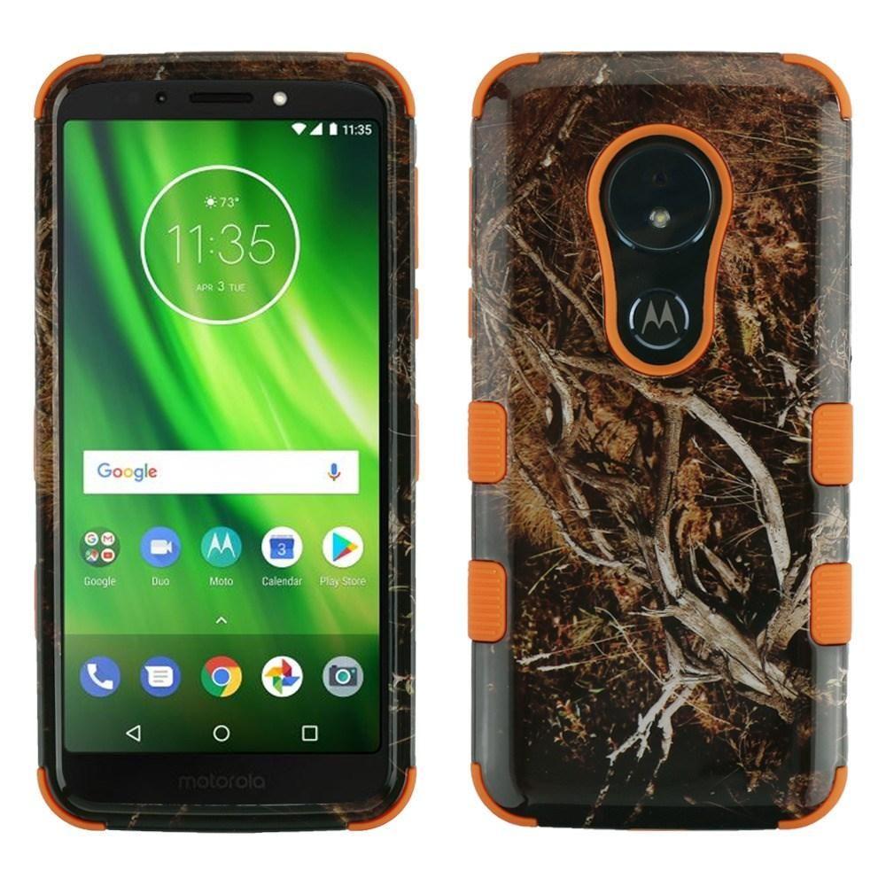 new arrive ef344 cc71a TUFF Motorola moto g6 play / forge Case - DarkTree Vine/Orange ...