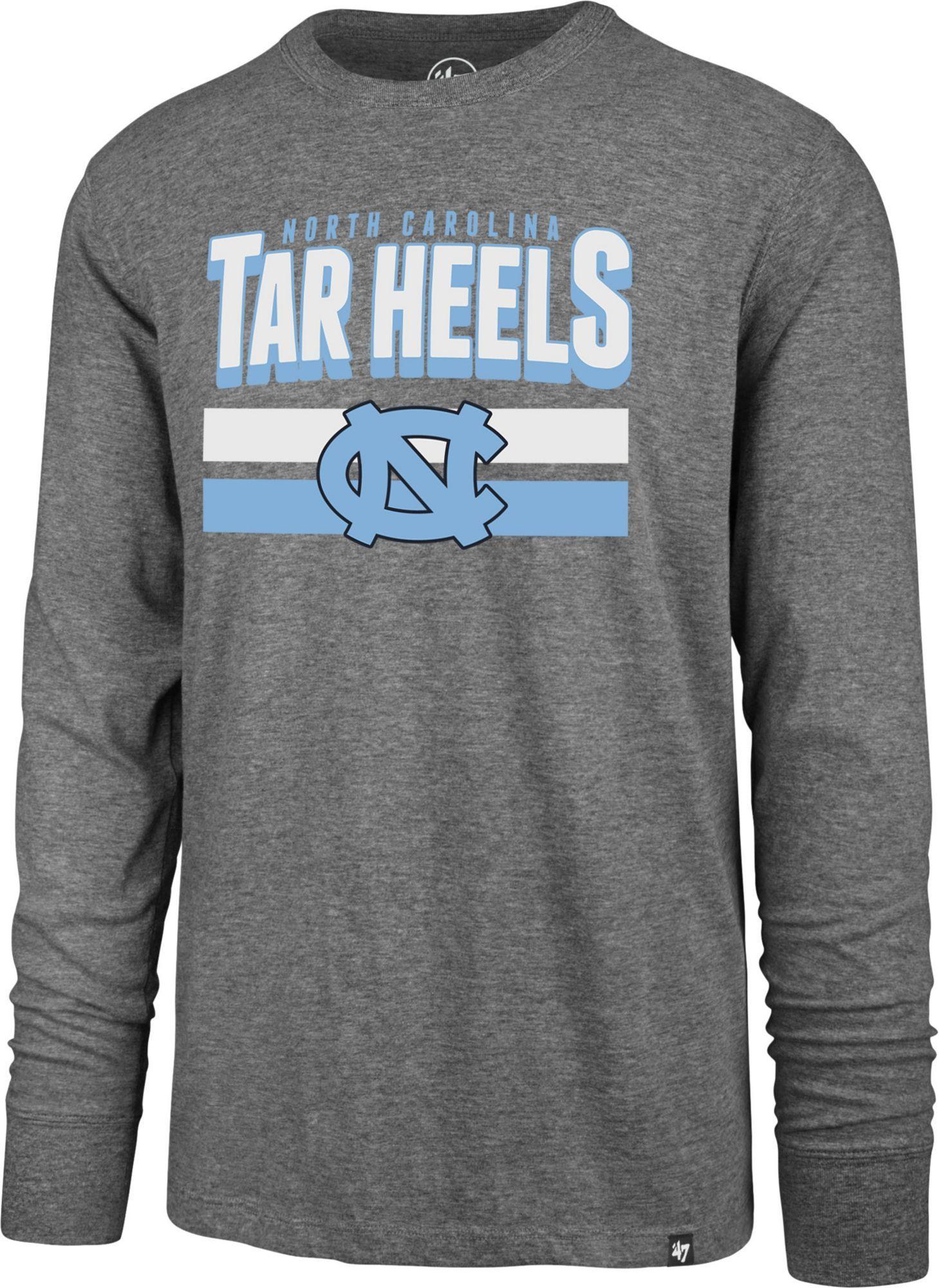 47 Men S North Carolina Tar Heels Grey Club Long Sleeve T Shirt