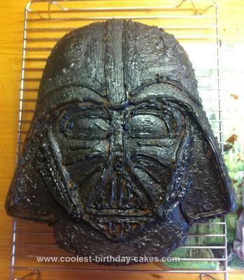 Cool Darth Vader Cake Using Darth Vader Cake Pan Basic sponge cake