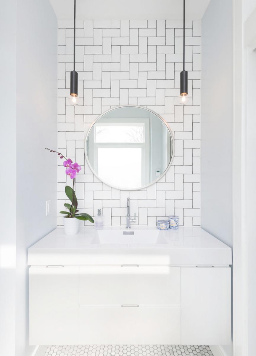 Bathroom Sink No Cabinet Little Modern Bathroom Designs For Small Spaces Between Bathroom Mirrors Subway Tiles Bathroom Bathroom Mirror Modern Bathroom Vanity