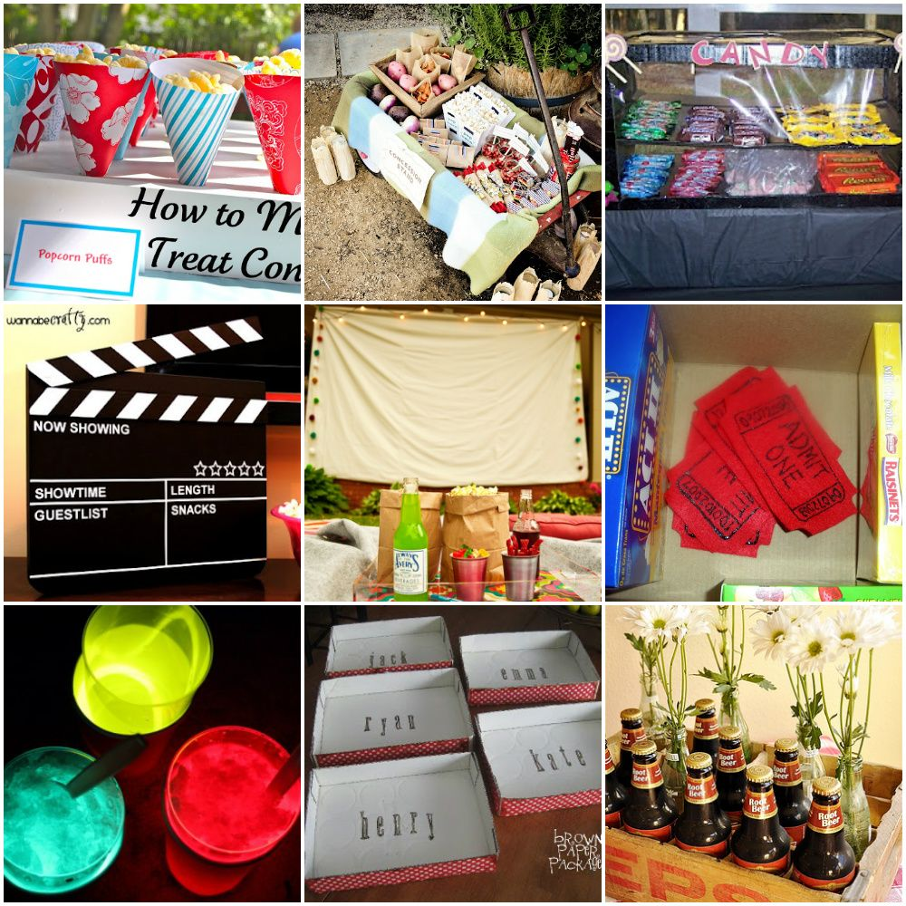 Diy Ideas For An Outdoor Movie Night Outdoor Movie Nights