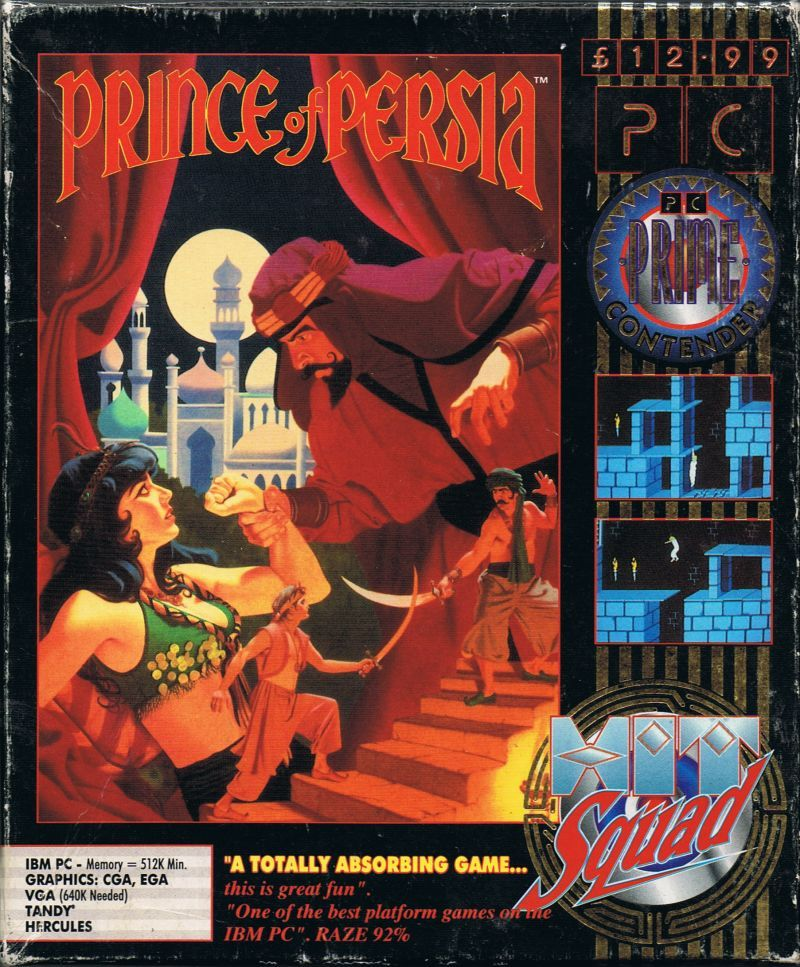 Prince Of Persia 1990 Amiga Box Cover Art Mobygames Cover Art Prince Of Persia Persia