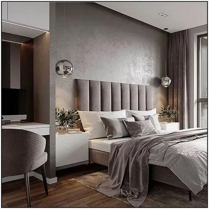60 New Trend Modern Bedroom Design Ideas For 2020 1 Remajacantik Luxurious Bedrooms Modern Bedroom Interior Luxury Bedroom Master