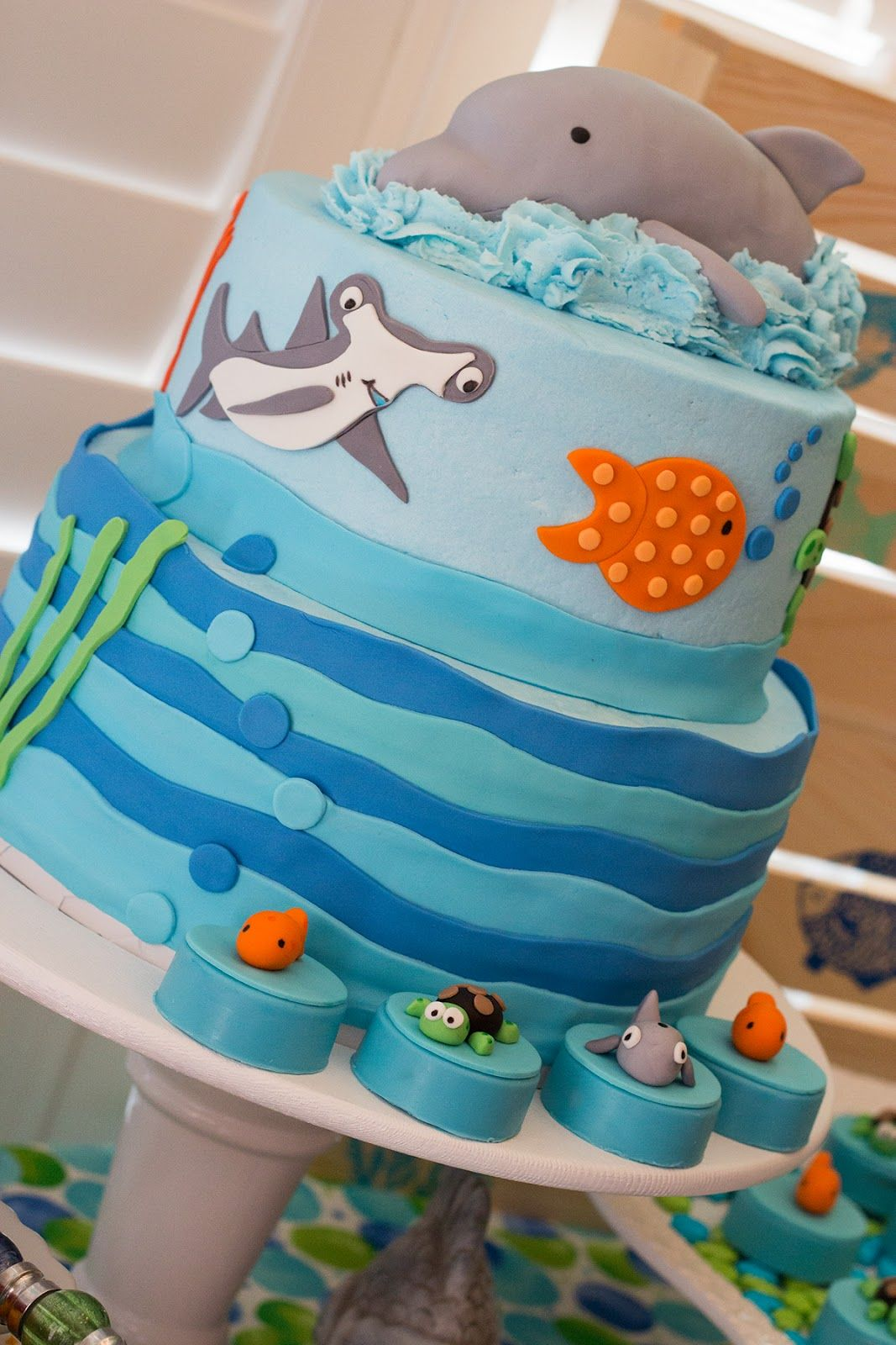Sea Life Cake For Great Gatherings Based On Artwork From