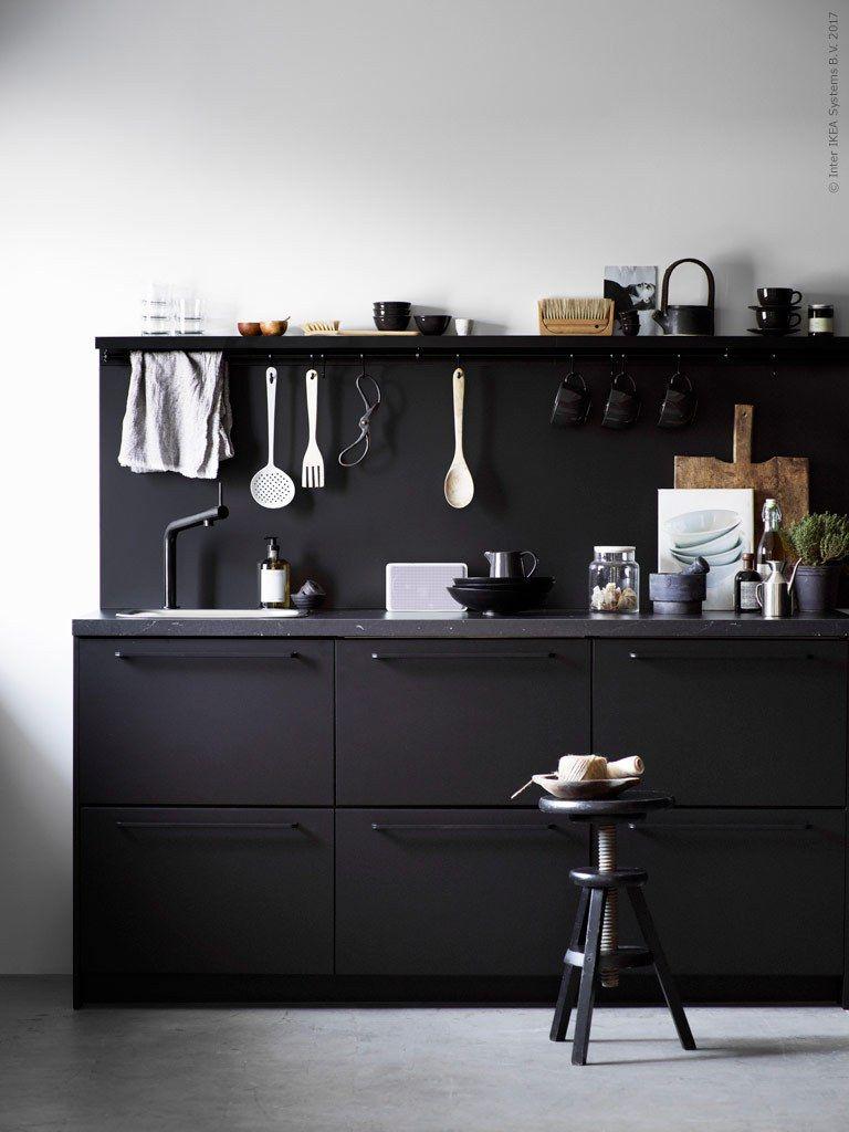 ikea kungsbacka coco lapine design kitchen blackblack - Ikea Black Kitchen Cabinets
