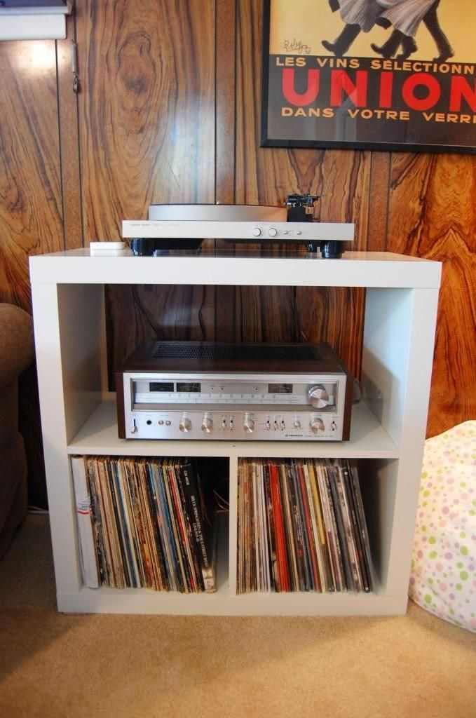 Ikea Kallax Expedit Turntable Audio Storage Hacks In 2019 Vinyl Record