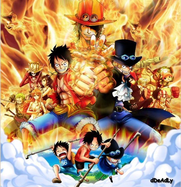 D Exhibition One Piece : One piece monkey d luffy sabo portgas ace