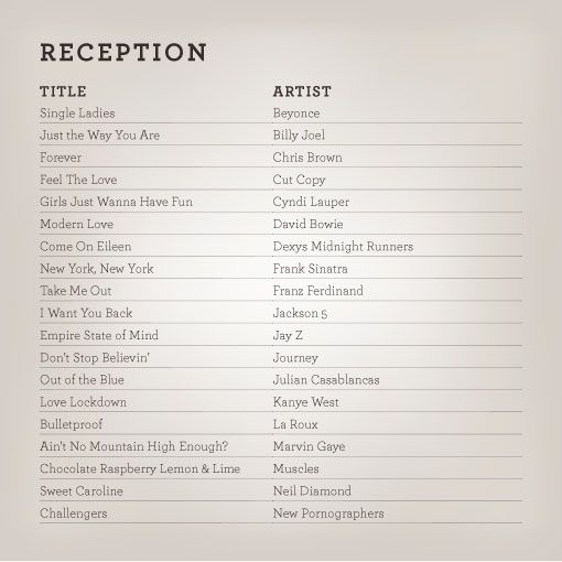 List Of Wedding Songs: Wedding_playlists_reception