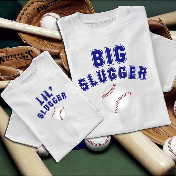 c9f125d6 Big Slugger Father & Son Matching Baseball T-Shirts | For my mini ...